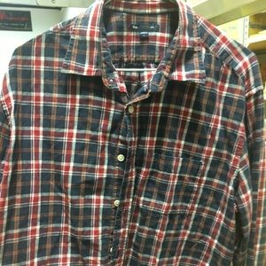 Gap Button Down Plaid Shirt